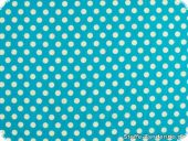 Leftover piece Cotton fabric  dots, turquoise 200x135cm