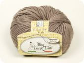 Best price: wool-acrylic yarn, taupe, 50g/75m